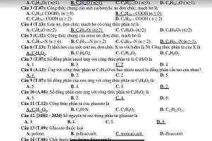 420 câu hỏi ôn thi tốt nghiệp THPT 2021 chống liệt môn Hóa học