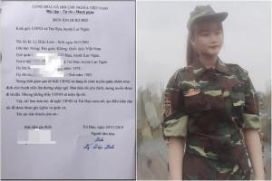 Cô gái 18 tuổi bảo lưu Đại học, xin đi nghĩa vụ quân sự