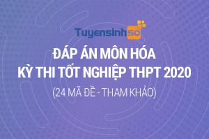 Đáp án môn Hóa học kỳ thi Tốt nghiệp THPT 2020 đầy đủ 24 mã đề (Tham khảo)