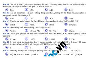 Đề thi môn Hóa phát triển trên đề minh họa lần 2 của Bộ GD&ĐT (có hướng dẫn giải chi tiết)