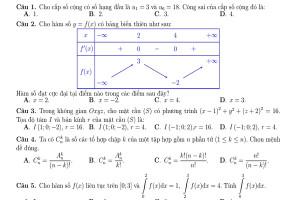 Tuyển tập đề môn Toán phát triển trên đề minh họa thi tốt nghiệp THPT 2021